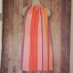LOFT NWT Dress Sleeveless Beachy Stripe high neck